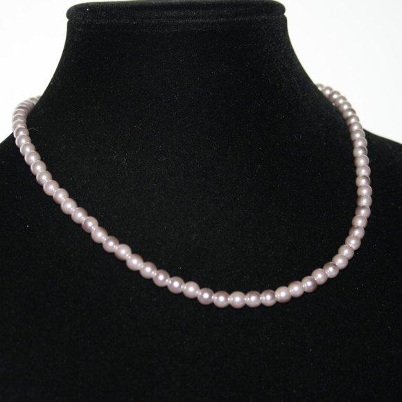 Beautiful purple pearl necklace Adjustable